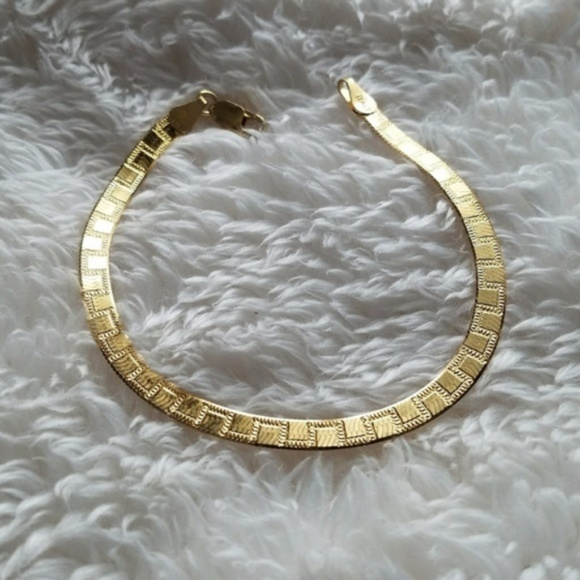 Italy 925 GOLD Plated Tennis Bracelet